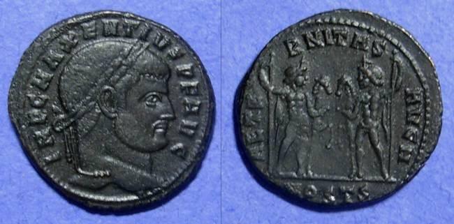 Ancient Coins - Maxentius 306-312AD Follis