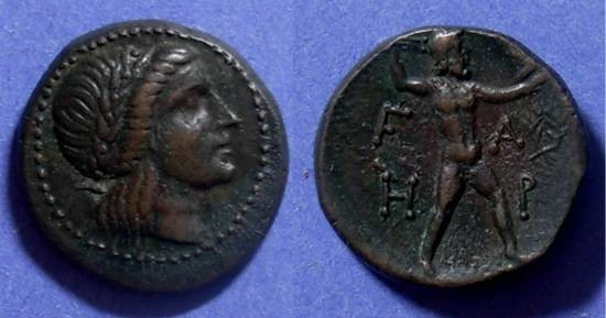 Ancient Coins - Elis, Olympia 250-191 BC, AE21