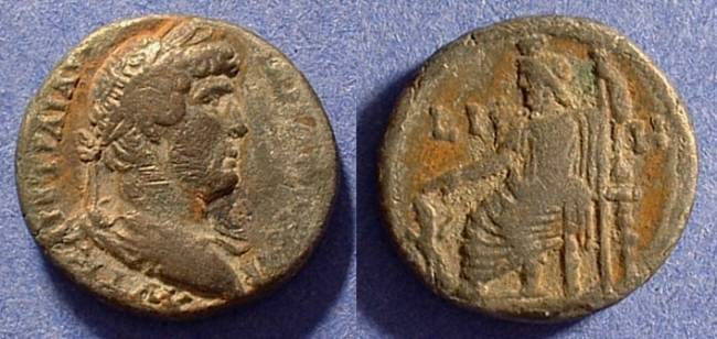 Ancient Coins - Roman Egypt - Hadrian 117-138 AD Tetradrachm