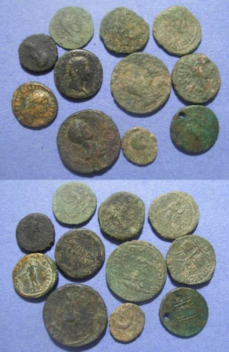 Ancient Coins - 11 Roman Provincial coins,  1st to 3rd Century,