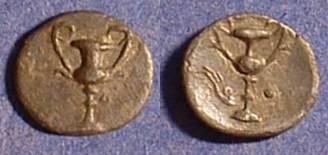 Ancient Coins - Taras Calabria - Obol  Circa 250 BC