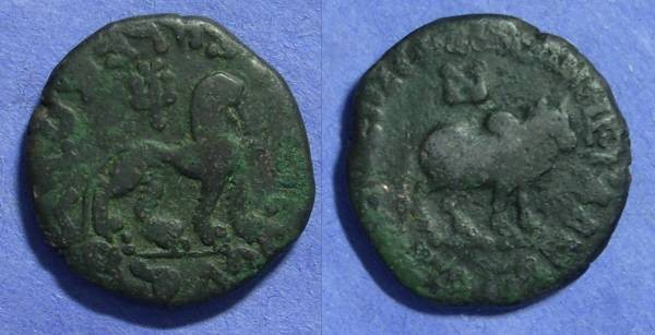 Ancient Coins - Indo-Scythian Azes  5BC-40AD AE Unit