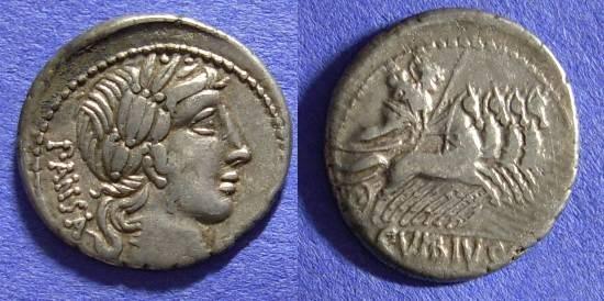 Ancient Coins - Roman Republic - Denarius 90 BC - Vibia 2