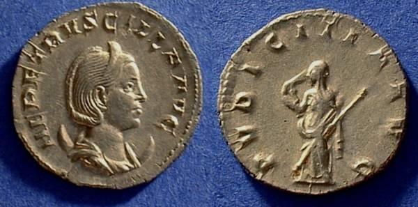 Ancient Coins - Herennia Etruscilla (Wife of T Decius) 249-251 Antoninianus