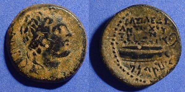 Ancient Coins - Seleucid Kingdom - Antiochos IV 175-164BC - AE21  - Tyre mint