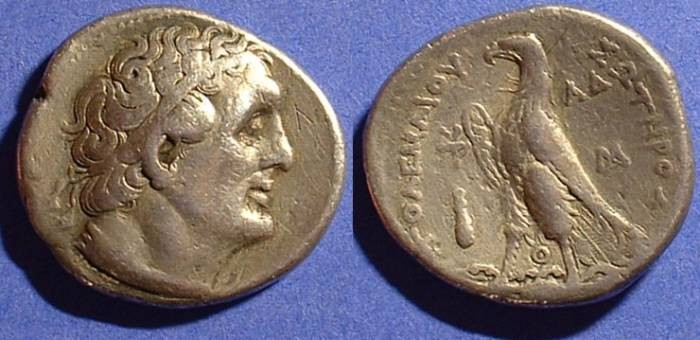 Ancient Coins - Ptolemy II 285-246BC Tetradrachm of Tyre