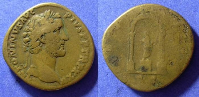Ancient Coins - Antoninus Pius 138-161AD - Sestertius