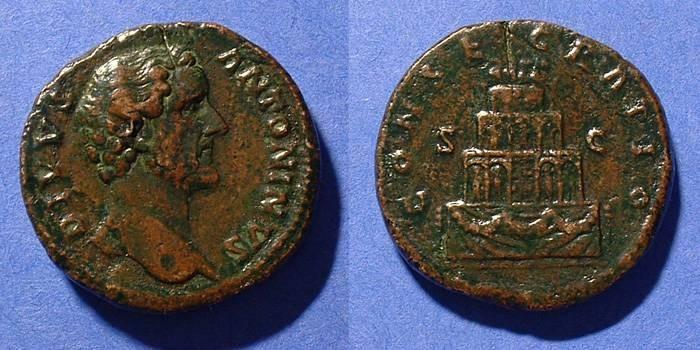 Ancient Coins - Antoninus Pius 138-161 - Posthumous issue Sestertius