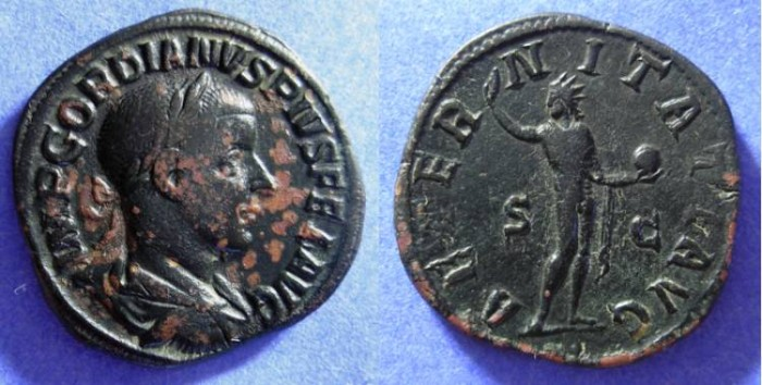 Ancient Coins - Gordian III  238-44 AD Sestertius