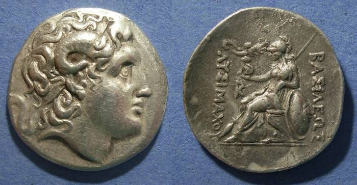 Ancient Coins - Kingdom of Thrace, Lysimachos 297-282 BC, Tetradrachm