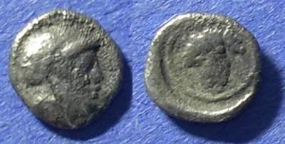 Ancient Coins - Methymna, Lesbos 450-405 BC, Hemiobol