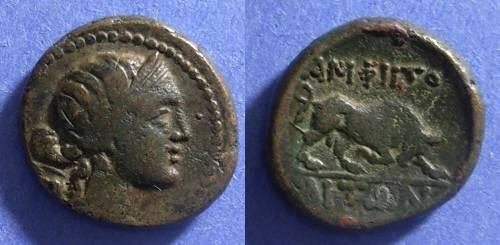 Ancient Coins - Amphipolis, Macedonia Circa 100 BC, AE19