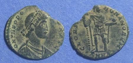 Ancient Coins - Roman Empire, Theodosius 379-395, 21mm