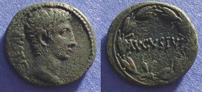 Ancient Coins - Augustus 27BC-14AD -Aes struck at Pergamon or Ephesos