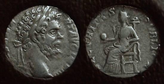 Ancient Coins - Septimius Severus 193-211AD Denarius: Slabbed ICG VF20