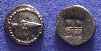 Ancient Coins - Macedonia – Uncertain – Circa 450 BC – Hemiobol