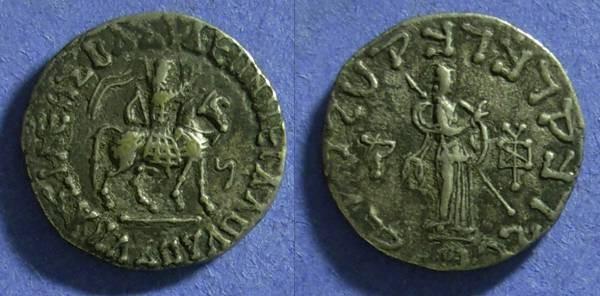 Ancient Coins - Indo-Scythians - Azes I, 5BC-40AD Tetradrachm