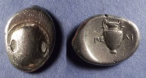 Ancient Coins - Boeotia, Thebes 379-368 BC, Stater