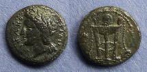 Ancient Coins - Sicily, Syracuse, Roman Rule Circa 200 BC, AE15