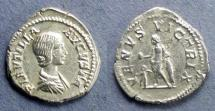 Ancient Coins - Roman Empire, Plautilia 202-205, Denarius