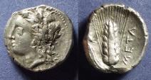 Ancient Coins - Lucania, Metaponton 330-290 BC, Nomos