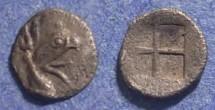 Ancient Coins - Ionia, Teos 460-420 BC, Tetartemorion