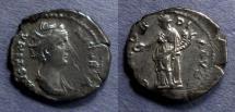 Ancient Coins - Roman Empire, Faustina Sr 138-141, Denarius