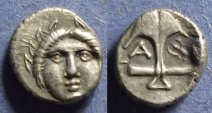 Ancient Coins - Apollonia Pontika, Thrace Circa 350 BC, Diobol