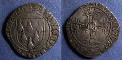 World Coins - France, Brittany, Francois II 1458-1488, Gros