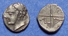 Ancient Coins - Gaul, Massalia 350-215 BC, Silver Obol