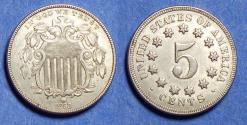 Us Coins - United States,  1868,  Shield Nickel