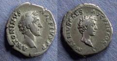 Ancient Coins - Roman Empire, Antoninus Pius & M. Aurelius 161-180, Denarius