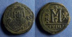 Ancient Coins - Byzantine Empire, Maurice Tiberus 582-602, Follis