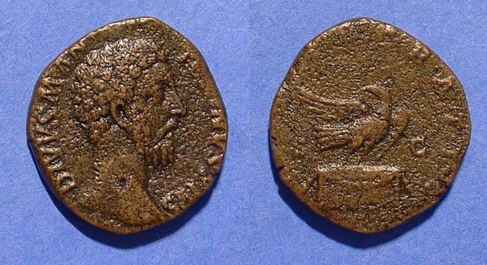 Ancient Coins - Marcus Aurelius 161-180 (Posthumous) Sestertius