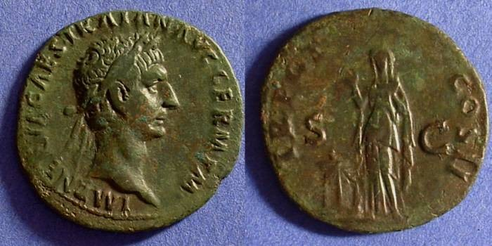 Ancient Coins - Trajan 98-117 As of 99AD