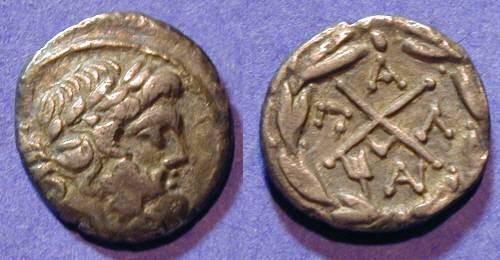 Ancient Coins - Achaean League - Pallantium - Hemidrachm 196-148 BC