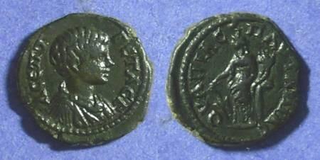 Ancient Coins - Pautalia Thrace AE16, Geta 198-208