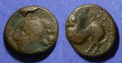 Ancient Coins - Gaul, Remi 100-50 BC, AE Unit