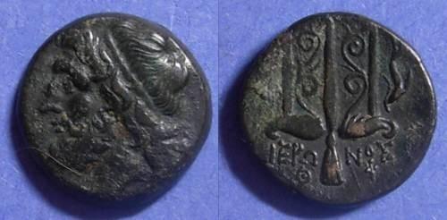Ancient Coins - Syracuse Sicily, Hieron II 275-215 BC, AE18