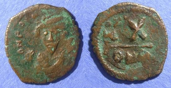 Ancient Coins - Byzantine Empire, Phocas 602-610, Half Follis