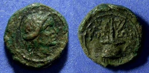 Ancient Coins - Sicily, Syracuse Circa 200 BC, AE