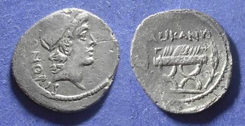Ancient Coins - Roman Republic, Lollius Palicanus 45 BC, Denarius
