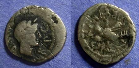 Ancient Coins - Roman Imperatorial, Octavian & Marc Antony 39 BC, Quinarius