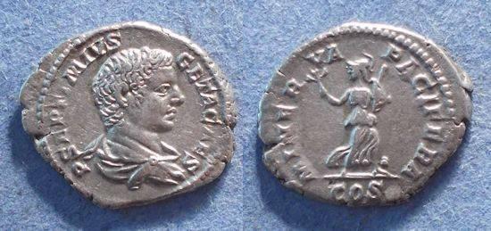 Ancient Coins - Roman Empire, Geta (as Caesar) 198-209, Denarius