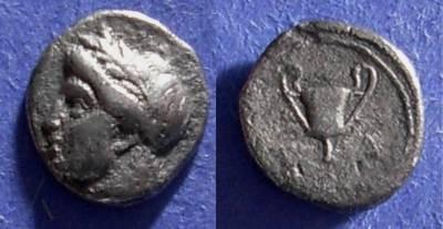 Ancient Coins - Methymna, Lesbos Circa 340 BC, Diobol