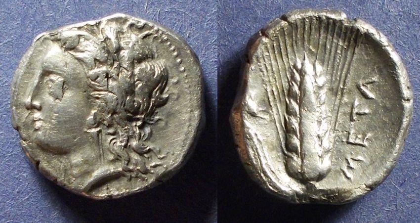 Ancient Coins - Lucania, Metapontum 330-290 BC, Nomos
