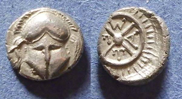 Ancient Coins - Messembria, Thrace Circa 350 BC, Diobol