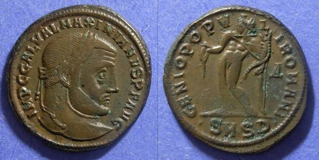 Ancient Coins - Roman Empire Galerius (as Augustus) 293 Follis