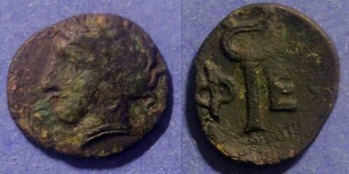 Ancient Coins - Pheneos, Arkadia 350-300 BC, Dichalkous