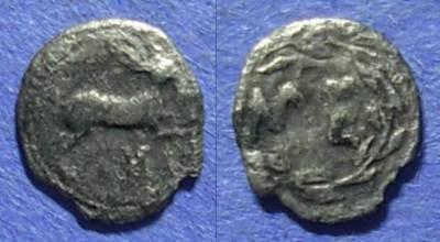 Ancient Coins - Messana, Sicily 455-451 BC, Hemilitron